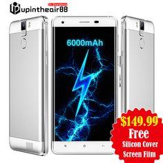 """원래 Oukitel K6000 프로 6000 미리암페르하우어 FDD LTE 옥타 코어 휴대 전화 5.5 """"3 기가바이트 + 32 기가바이트 지문 16.0MP 1920*1080 마력 FHD 스마트 폰"""
