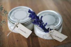 DIY: lavender soy candles via neato! bonito