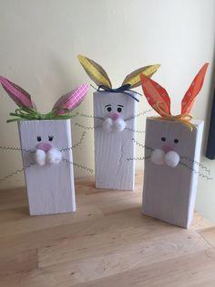 Wooden BunniesWood Block Bunny 2x4 Bunny Easter Decor