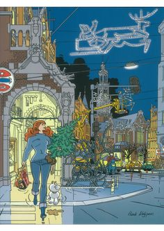 Franka Henk Kuijpers Caricature, Adventure Aesthetic, Ligne Claire, Cities, Bd Comics, Comic Drawing, Cartoon Movies, Comic Artist, Comic Strips