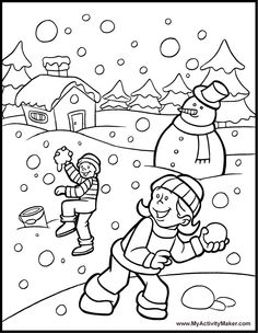 Winter Printable Worksheets | 42 Winter Coloring Pages - {myactivitymaker.com} {freecoloringpagesite.com}