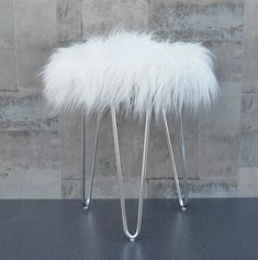 Features: Comes flat packed Perfect to add a touch of glamour to any room On trend hair pin legs Black fluffy stool with silver hair pin style legs P Dressing Table With Chair, Dressing Table Mirror, Dressing Room, Fluffy Stool, White Stool, White Vanity Chair, Storage Stool, Round Stool, Living Room