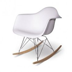 RAR Rocking Chair inspired by Eames white living room