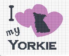 Crochet, Knit, or Cross Stitch, I Love My Yorkie Graphgan Pattern, Crochet Dog Chart Blanket, Digital PDF Files by FADesignCharts on Etsy