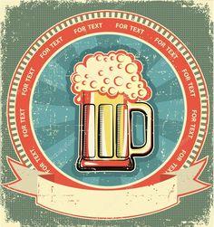Télécharger - Étiquette de bière, sur fond de texture.vintage vieux papier — Illustration #8995991