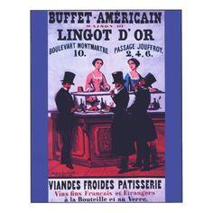 #gold - #Buffet Américain - Maison du Lingot d'Or 1854 Wood Wall Art