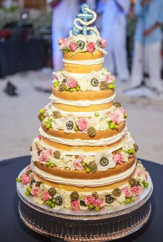 Naked nautical cake...Key West Cakes...1313 Photography, S. Florida