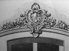 Wood Carving Patterns, Carving Designs, Drawing Furniture, Ornament Drawing, Stuck, Architecture Drawings, Classical Architecture, Classic Interior, Stone Carving