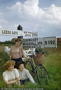 vintage everyday: Wonderful Color Photos of Life in England in the 1950's
