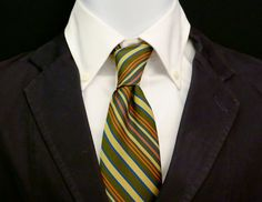 Striped Mens Vintage Ties by bobbysBoutique on Etsy, $15.00