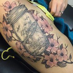 This elegant version. | 21 Mason Jar Tattoos That Are Surprisingly Awesome