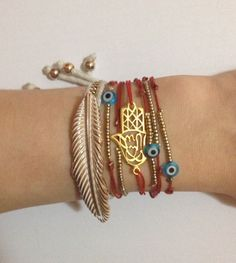I've been wearing my red string Kabbalah bracelets for years now! They have yet…