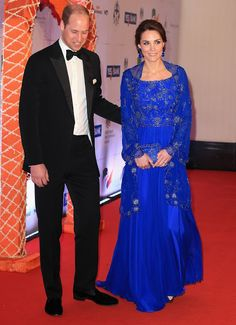 Prince William and Duchess Catherine at Bollywood Charity Gala hosted by the British High Commission and the British Asian Trust at the Taj Palace hotel in Mumbai, India during day one of the royal tour to India and Bhutan.