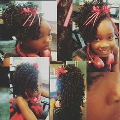 Crochet Braids for girls Versatile hairstyle: mohawk,  ponytail,  updo or do full set of crochet braids when it gets old.