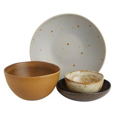 The Roman set of 4 tapas bowls are made in Portugal from stoneware and decorated with a reactive glaze that makes each piece unique.[br]Exclusive to Habitat, the bowls are perfect for sharing dishes. Serveware, Tableware, Willow Wood, Wood Tray, Dinner Sets, Dinnerware Sets, Plates And Bowls, Serving Dishes, Tapas