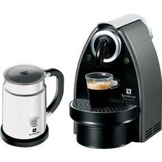 Amazon.com: Nespresso C100-US-AERO Essenza Automatic Single-Serve Espresso Machine with Nespresso Aeroccino Milk Frother, Titanium: Kitchen & Dining