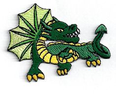 Do you have a little tyke who loves dragons?   DRAGON FLYING GREEN MYSTICAL CHILDRENS EMBROIDERED IRON ON PATCH