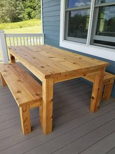 This Outdoor Cedar Picnic Table Set is just one of the custom, handmade pieces you'll find in our patio tables shops. Outdoor Furniture Plans, Wooden Pallet Furniture, Wooden Pallets, Furniture Ideas, Furniture Movers, Furniture Outlet, Furniture Design, Garden Furniture, Sofa Ideas