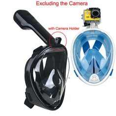 180 Degree View Diving Mask Full Face Scuba Cam ready
