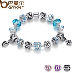 Bracelets BAMOER Hot Sell European Style Silver Crystal Charm Bracelet for Women With Blue Murano Glass Beads Jewelry AliExpress Affiliate's Pin. Click the VISIT button for detailed description Cute Jewelry, Charm Jewelry, Jewelry Accessories, Diy Jewelry, Glass Jewelry, Jewelry Stores, Dragonfly Jewelry, Jewellery Sale, Bridal Jewellery