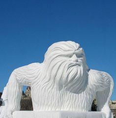 Snow Sasquatch! snow sculptures | Awesome snow sculptures - 53 Pics | Curious, Funny Photos / Pictures