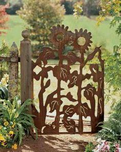 Love this metal garden gate