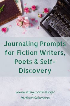 31 Journaling Prompts for Fiction Writers, Poets and Self-discovery #journal #writer #etsy