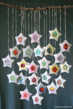 origami xmas calendar
