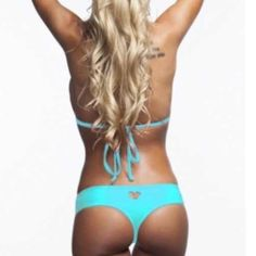New Aqua heart cut out bikini bottom  New with tags size medium. Heart cut out bikini bottom from my bikini shop Skin Swim Swim Bikinis