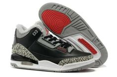 finest selection b3fb3 e15c9 Shop Top Brands and the latest styles 2017 Jordan Retro III 3 (III) Black  Cement Grey-Varsity Red at Nikelebron. What others are saying.