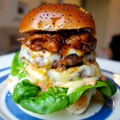 The Rib Tickler - The Londoner...have you EVER seen a more gorgeous burger??