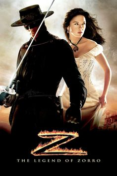 "Watch The Legend of Zorro Free Online - The Legend of Zorro reunites stars Antonio Banderas and Catherine Zeta-Jones with director Martin Campbell for a sequel to their 1995 action hit ""The Mask of Zorro. Catherine Zeta Jones, Love Movie, Movie Tv, A Mascara Do Zorro, Movies Showing, Movies And Tv Shows, Zorro Movie, The Legend Of Zorro, The Mask Of Zorro"