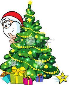 Weihnachtsbaum-Karikatur mit Stern photo | Bilder_KiTu ...