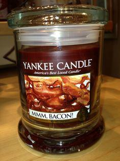 Yankee Candle Bacon? What?  Just what I need - a candle that makes me hungry...lol