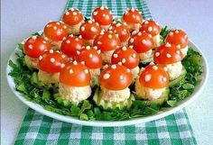 pixels - pixels p. - pixels planodefundo w - Her Crochet Cucumber Recipes, Summer Salad Recipes, Healthy Salad Recipes, New Year's Eve Appetizers, Vegan Appetizers, Appetizer Recipes, Mushroom Appetizers, New Year's Snacks, Snacks Für Party