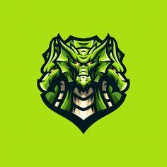 Awesome dragon logo sport template vector image on VectorStock Dog Logo Design, Game Logo Design, Design Design, Logo Dragon, Sports Templates, Esports Logo, Horse Logo, Sports Graphics, Sports Wallpapers