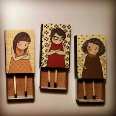 Matchbox dolls  For handmade dolls that have interchangeable eyes and mouths, visit jessicadolls.com!