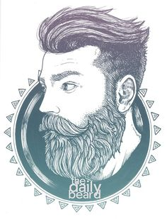 Beards. Men. Illustration. The Daily Beard.