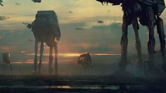 AT-AT walker Star Wars gritty concept [1600x900] : wallpaper
