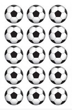 Soccer ball printed icing images cupcake size 5 cm round x 15 AU$9.95 bake your cupcakes, decorate with icing and then peel and place on top of the cupcakes so simple ! #soccer #soccerparty #worldcup #soccercupcaketoppers