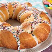 Easter Bread Wreath (lots of other Easter recipes as well)