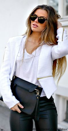 White on Leather