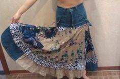 Картинки по запросу джинсовая юбка из старых джинс
