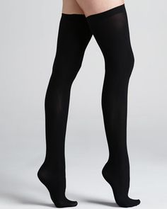 Up+All+Night+Opaque+Thigh+Highs,+Black+by+Commando+at+Neiman+Marcus.