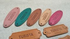 투리스타 가죽라벨 Leather Label, Label Design, Craft Fairs, Patches, Purses, Tags, Sewing, Pendant, Crafts