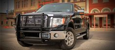 Ranch Hand Legend Grille Guard on a Ford F150 in Ranch Hand's hometown downtown of Shiner, Texas