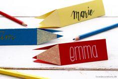 DIY Stift Namensschild: Schule  // DIY  Pencil Nameplate
