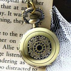 Perforated Pocket Watch Miss Girl, Rose Gold Pendant, Pocket Watches, Unique Jewelry, Accessories, Retro, Fashion, Moda, Fashion Styles