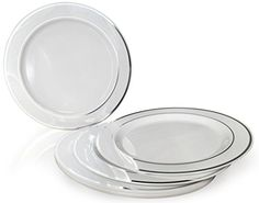 Plastic Wedding Plates Bulk. Plastic Plates - 100-Pack 7.5-inch Plates 10 Inch 100 Count. Tracking price free. Buy today to save tomorrow.  sc 1 st  Pinterest & These plastic plates are really pretty and the price is even ...