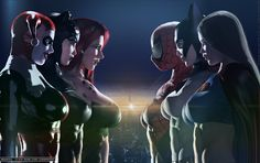 The Trinity Squads, Villainesses vs. Superheroines by DevilishlyCreative.deviantart.com on @DeviantArt